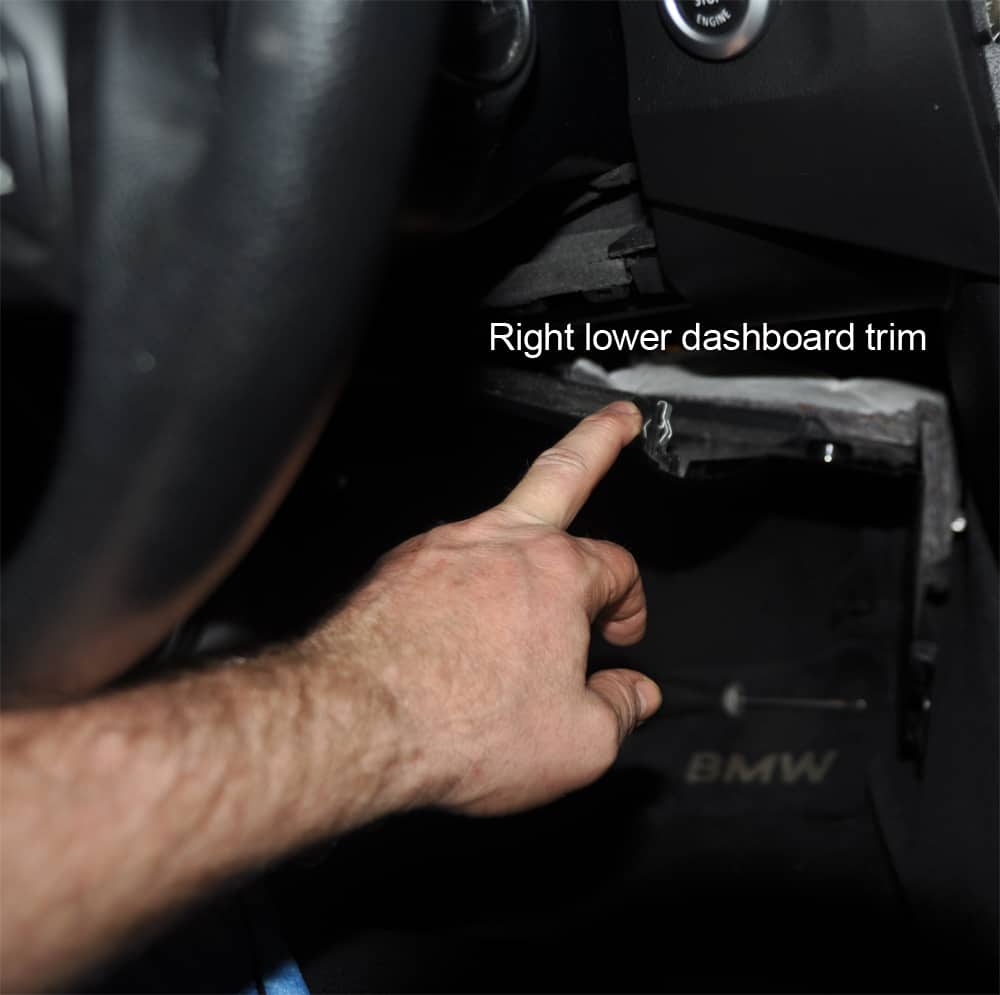 Blower Motor Replacement Bmw E60 Repair Guide Accessand To Remove Cover Hvac Control Schematics Lower Dash Trim Expose