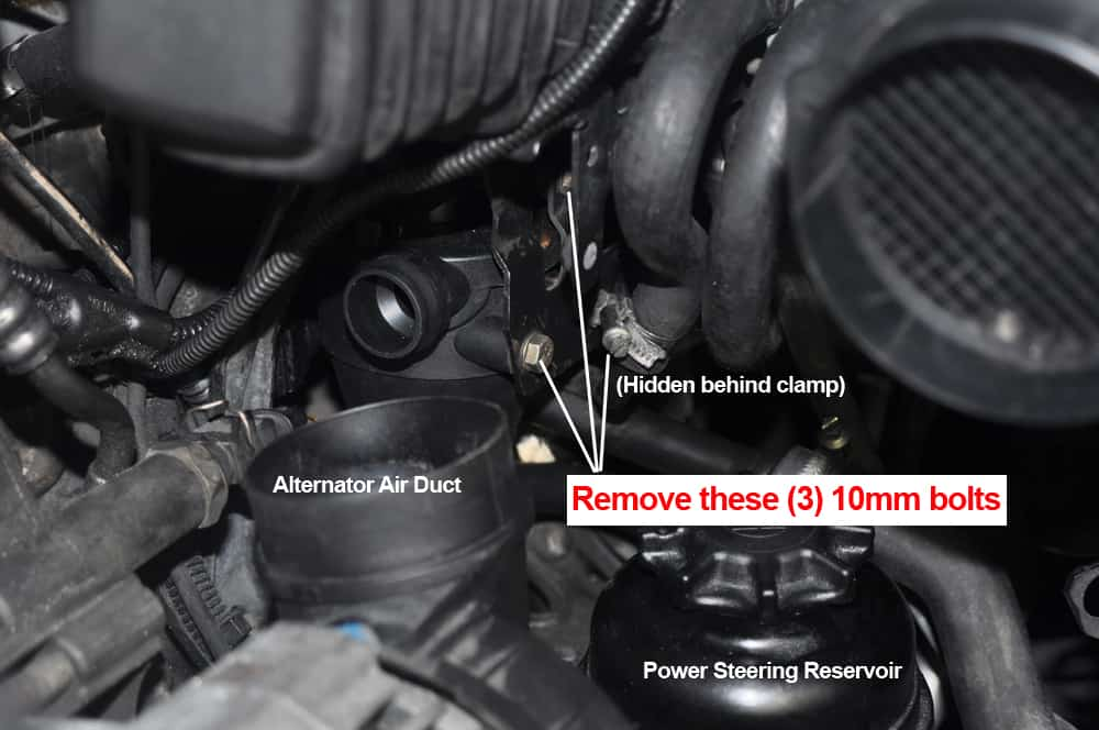 BMW E36 Oil Separator Valve - - remove from mounting bracket