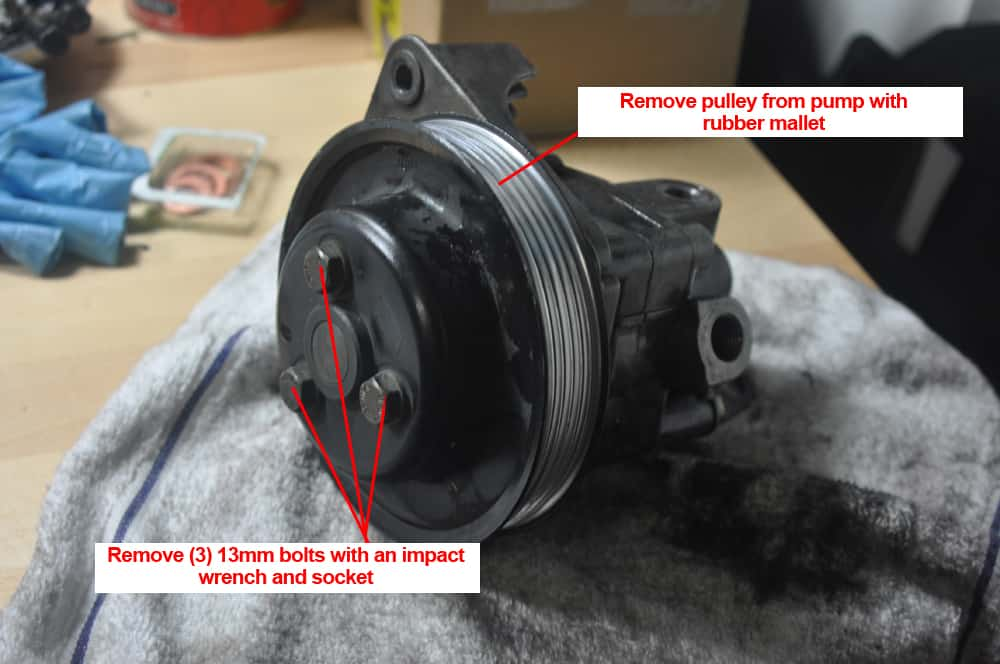 e90 power steering pump replacement cost