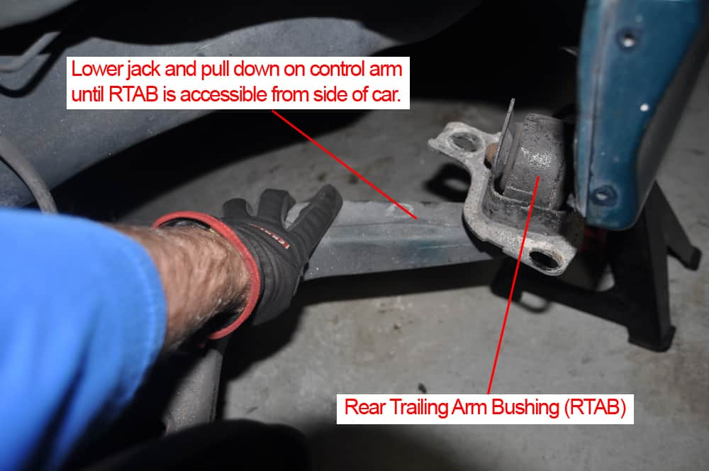 BMW E36 RTAB replacement - lower trailing arm