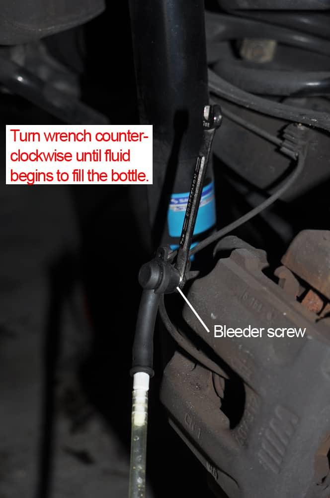 brake fluid flush bleed caliper