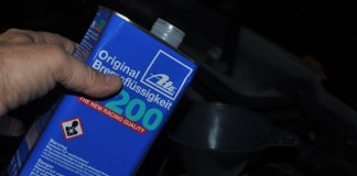 brake fluid flush add fluid
