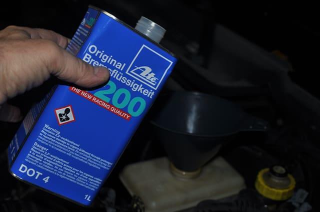 brake fluid flush add fluid