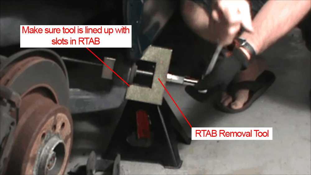 BMW E36 RTAB replacement - using removal tool