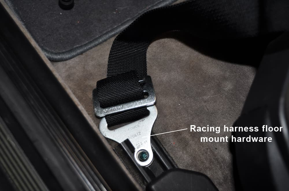 BMW E36 Racing Harness - Install front racing harness mounts.