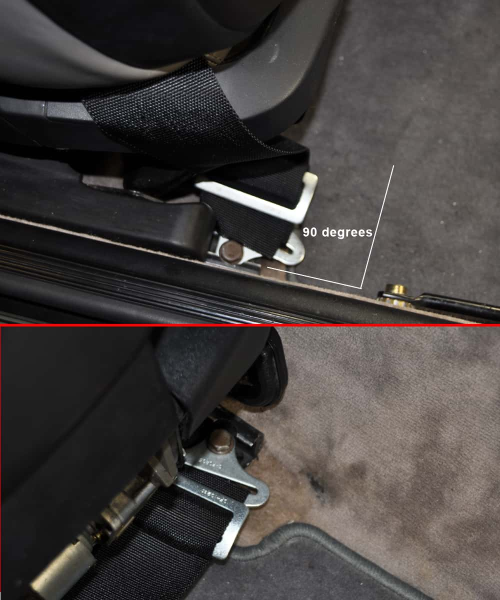 Install the rear harness floor hardware.