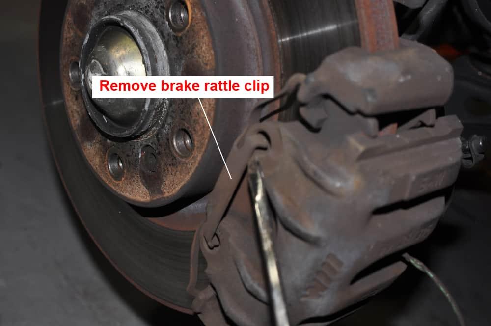 BMW E36 brake repair - rattle clip removal