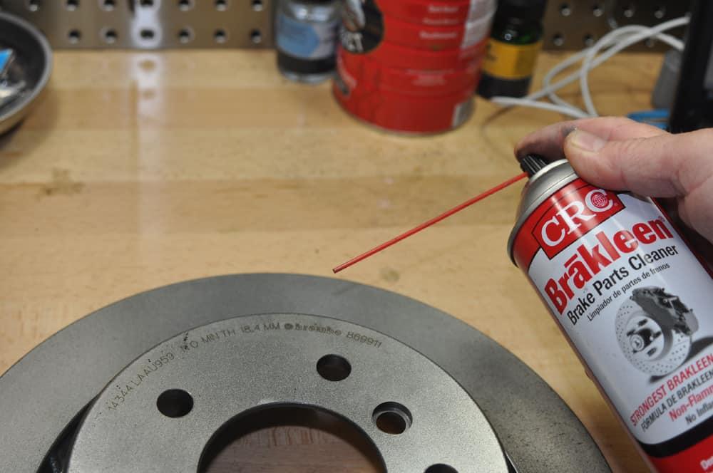 BMW E36 brake repair - brake rotor cleaning