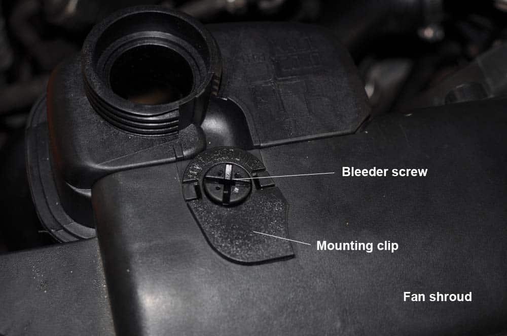 New bleeder screw