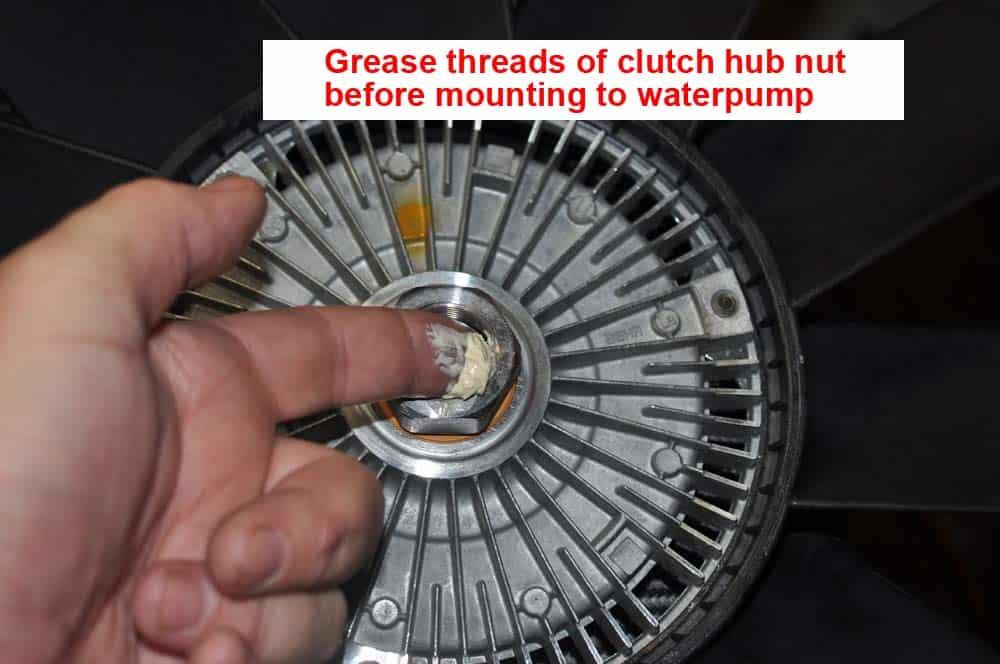 BMW E31 Coolant System - grease clutch hub