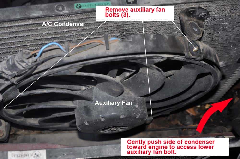 BMW E31 coolant system - remove auxiliary fan