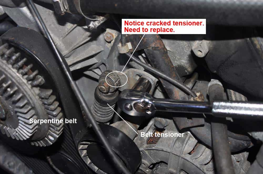 Loosen the belt tensioners