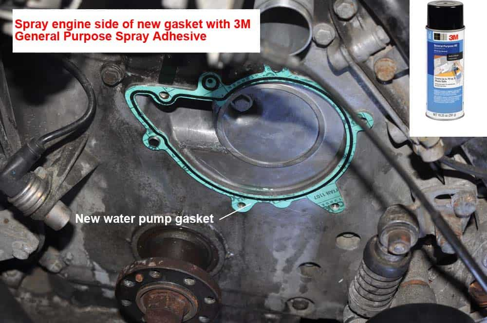 BMW E31 Coolant System - install new water pump gasket