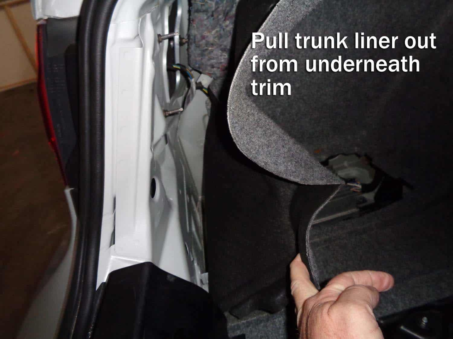 Pull the trunk liner out