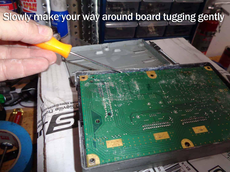 Remove the amplifier circuit board