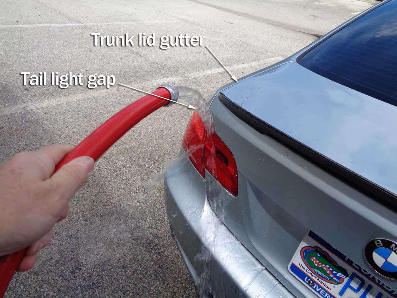 Trunk Leak / Tail Light Leak Diagnoses and Repair - BMW E90 E91 E92