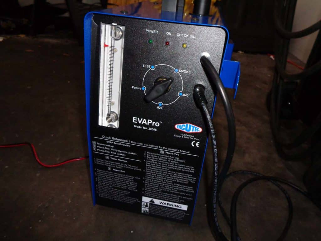 smoke test machine leak detection