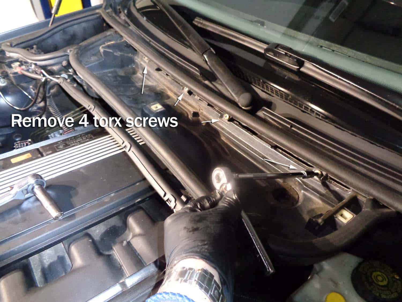 bmw e46 tune up - remove the cabin filter housing