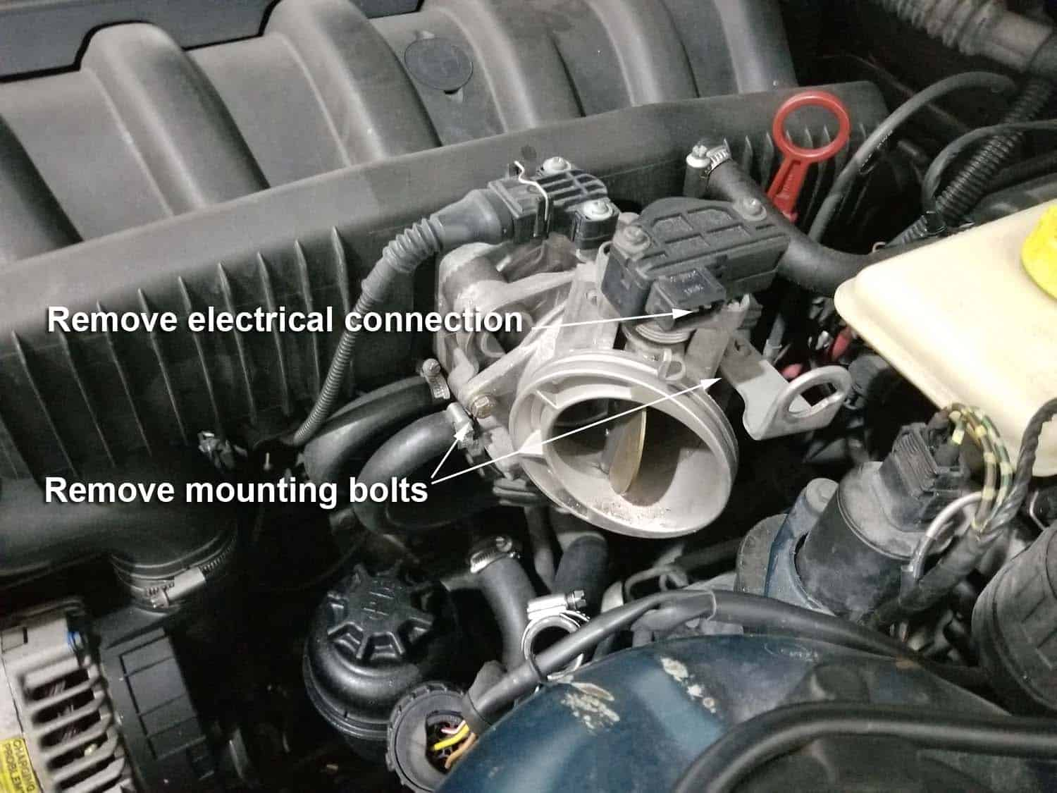 BMW E36 cold air intake - remove the ASC from vehicle