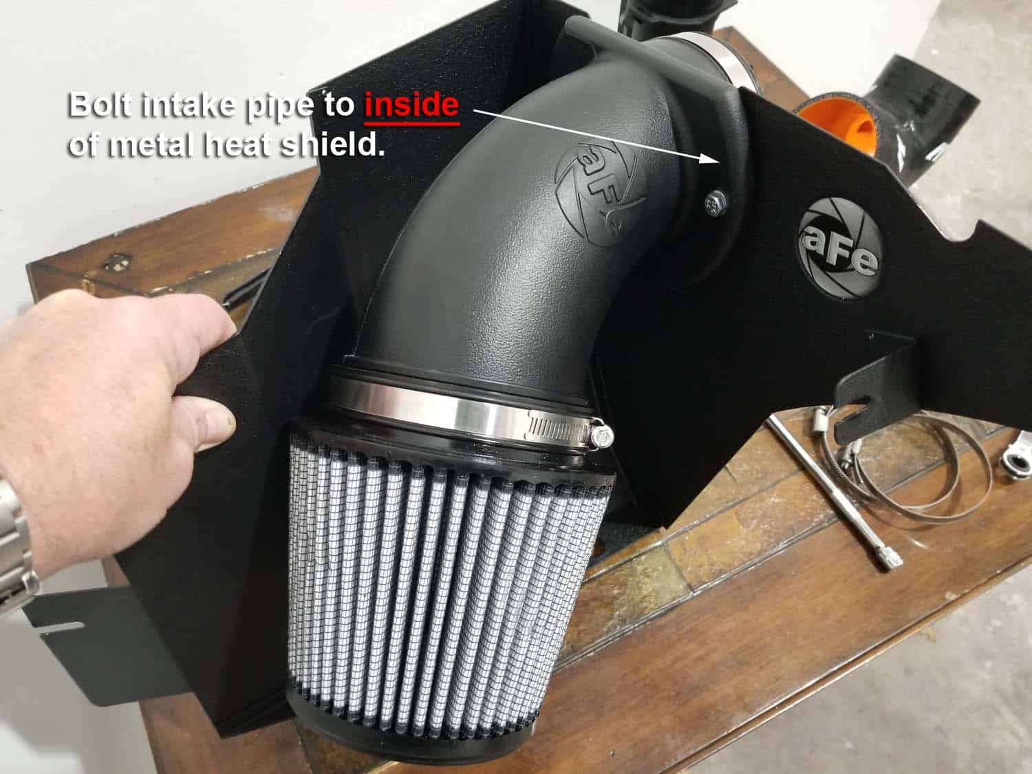 BMW E36 cold air intake - prepping the new cold air intake