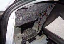 bmw e90 e92 e93 trunk leak amplifier water damage