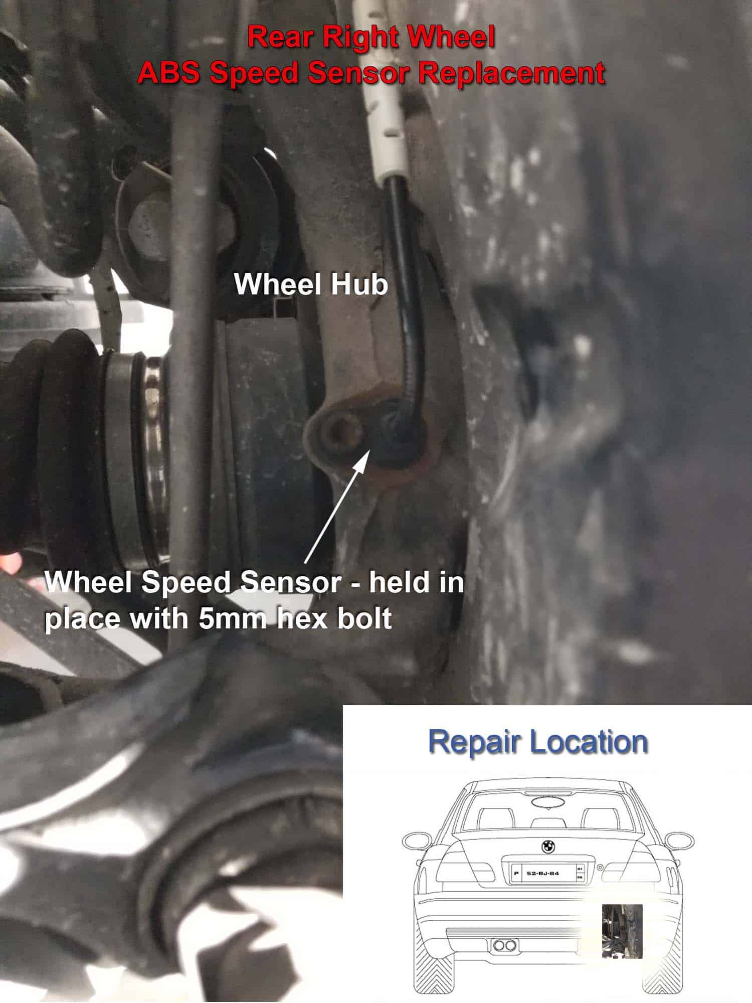 ABS Wheel Speed Sensor Repair - BMW e9x - DBC and ABS Errors