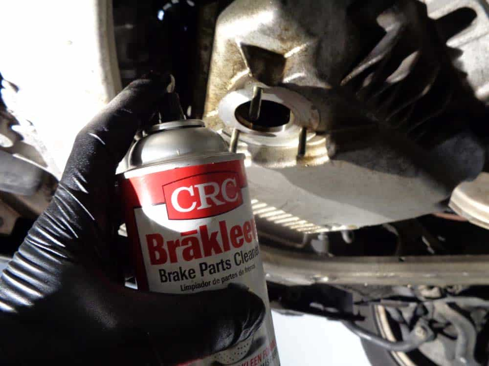 Clean the surfaces thoroughly with CRC Brakleen