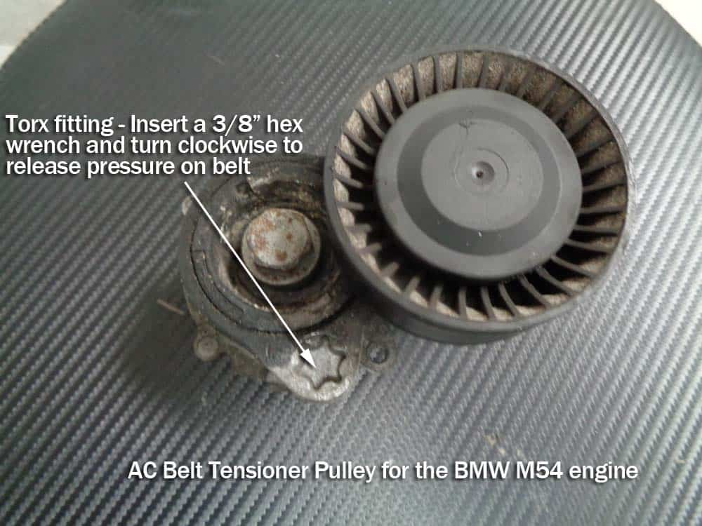 bmw e60 tensioner pulley replacement - ac belt tensioner pulley