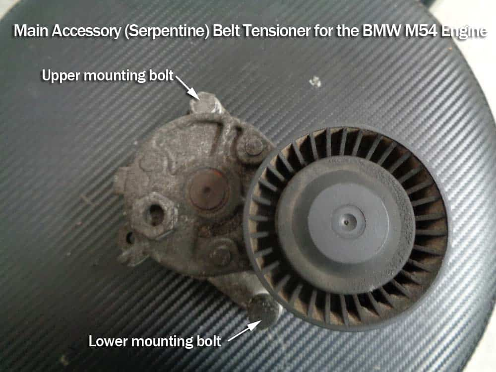 Main accessory tensioner mounting bolts