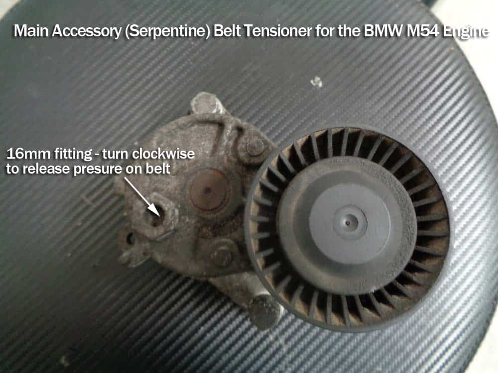 bmw e60 tensioner pulley replacement - Accessory belt tensioner pulley