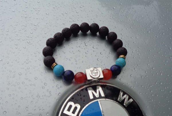 bmw black lava chakra bead bracelet