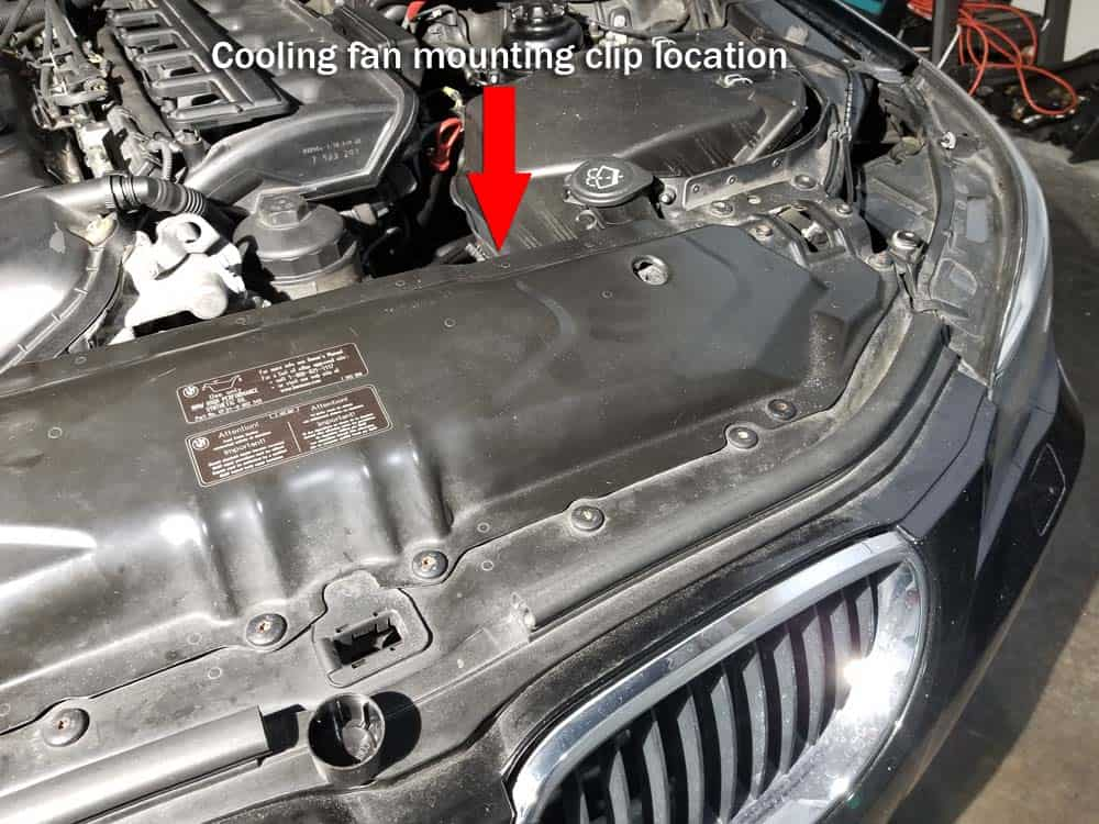 BMW E90 cooling fan