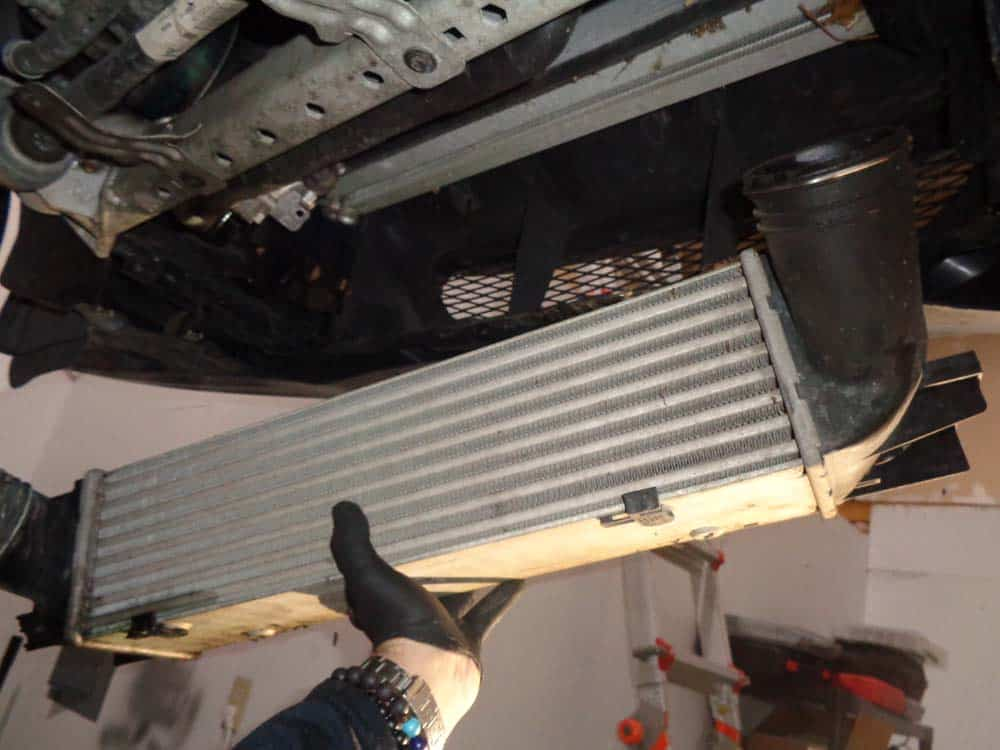 Remove the intercooler from the vehicle