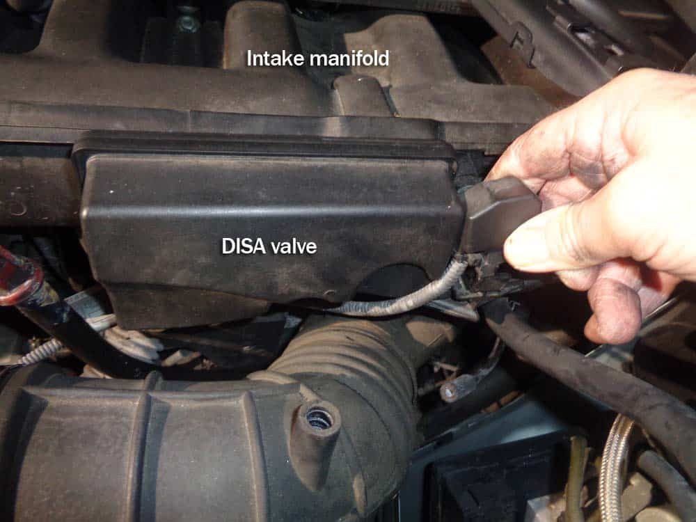 BMW rough idle on startup - Remove the electrical connector from the DISA valve