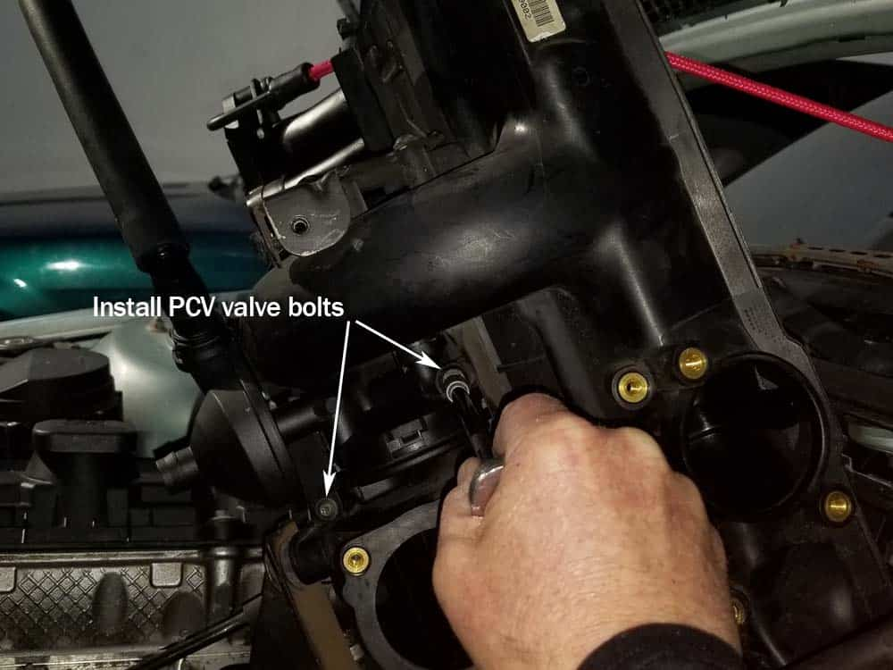 bmw e46 pcv valve replacement - Anchor the pcv valve to the bottom of the intake manifold with the torx bolts