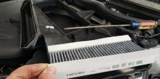 BMW E9x M3 cabin filter replacement