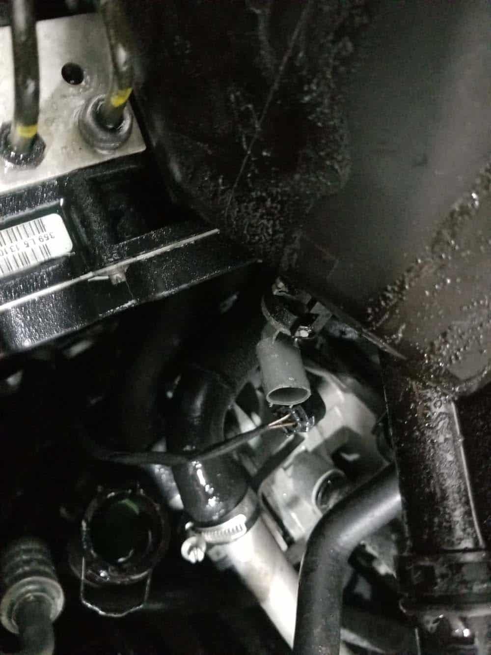Unplug the electrical sensor on bottom of the tank.