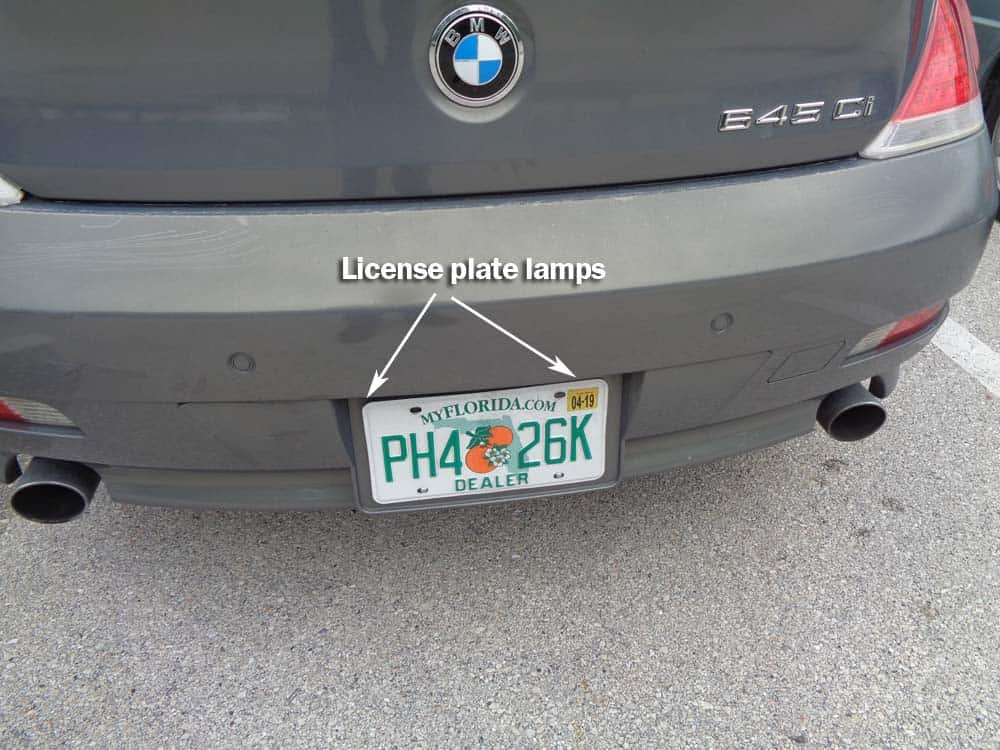 Bmw License Plate Bulb Replacement 6 Z4 Series
