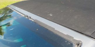 bmw windshield moulding