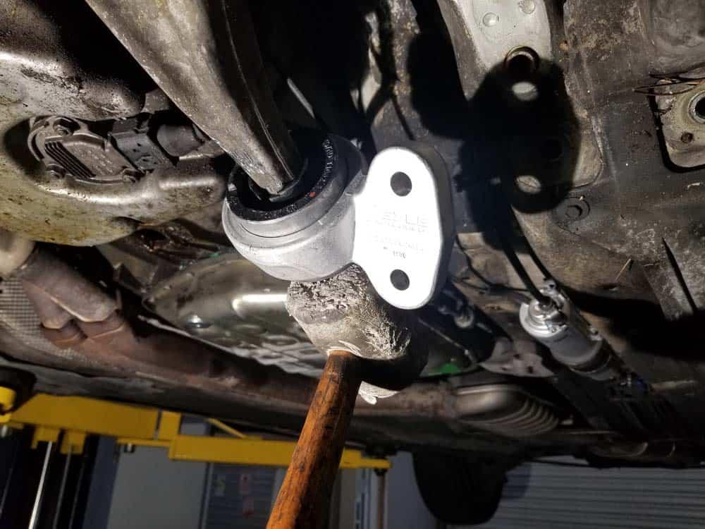 install control arm bushing