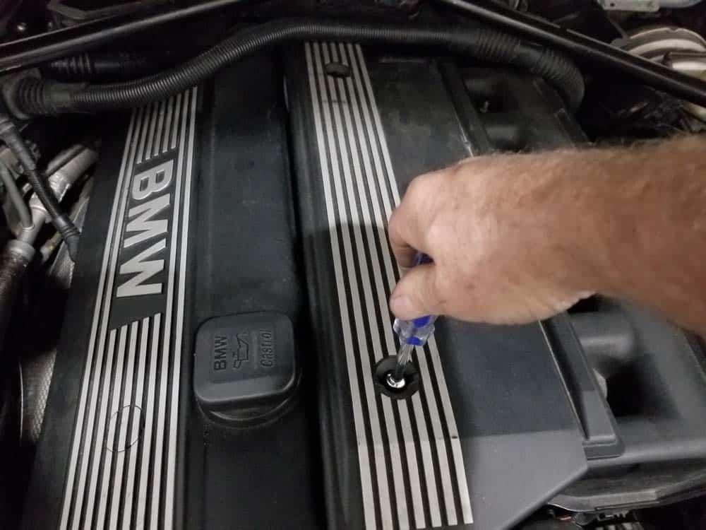 E60 Front Oxygen Sensors - engine cover