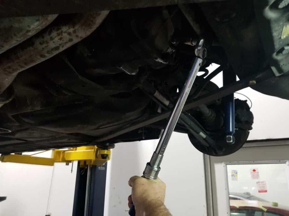 reinstall drain plug and torque