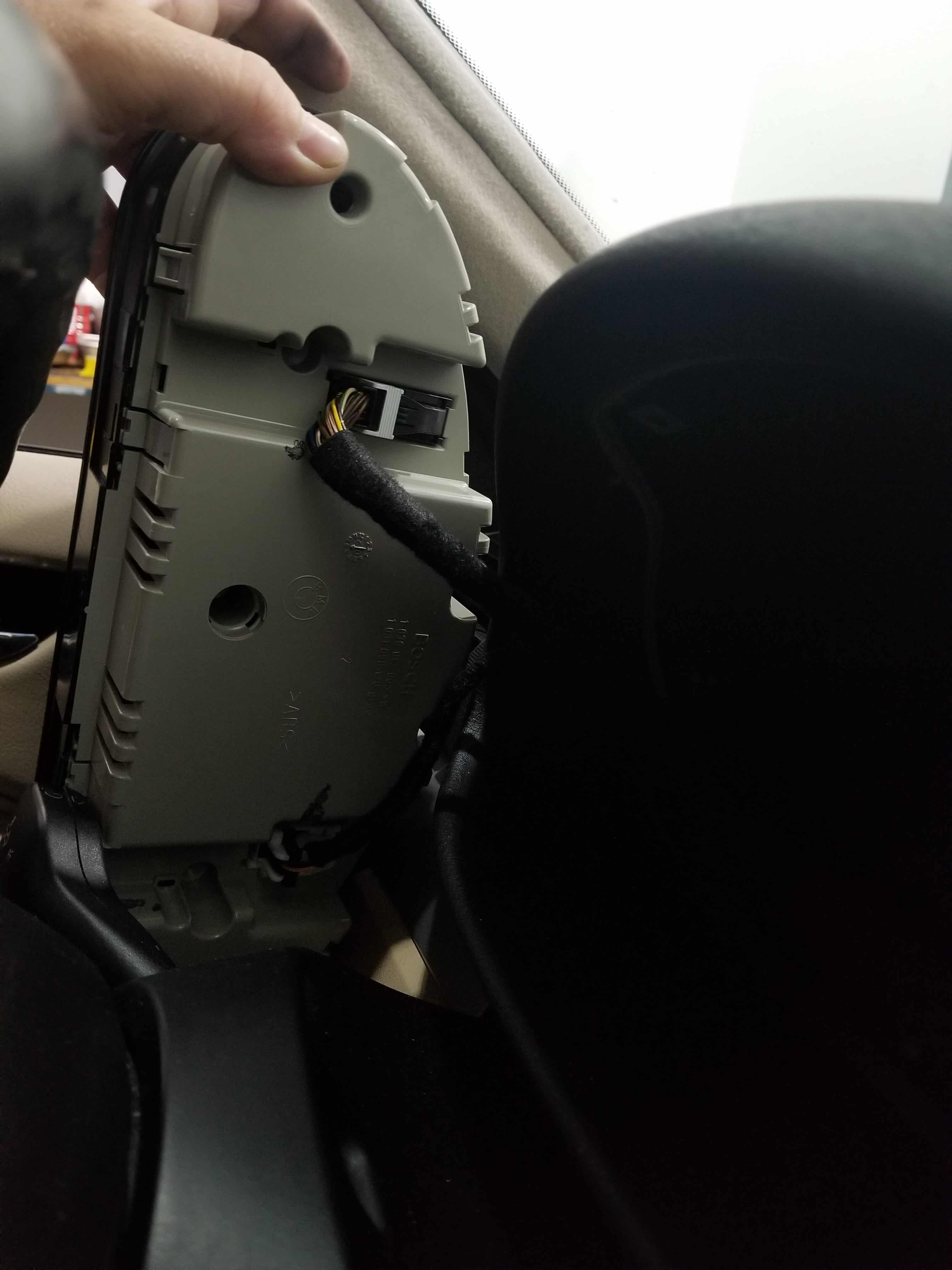 remove instrument cluster from dashboard