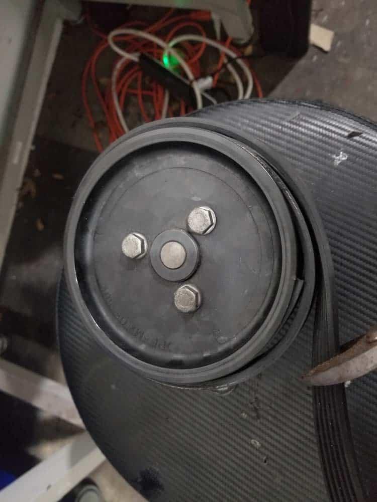 BMW E36 power steering pump - cut off excess belt