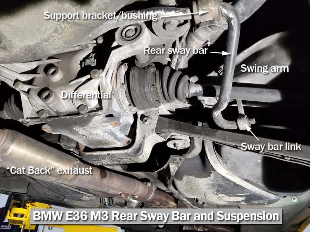 bmw e36 rear sway bar bushing replacement - 1990-1998 3 series  bmw repair guide