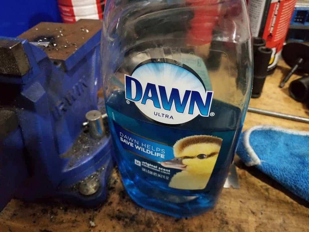 dawn dishwashing liquid - makes a great lubricant