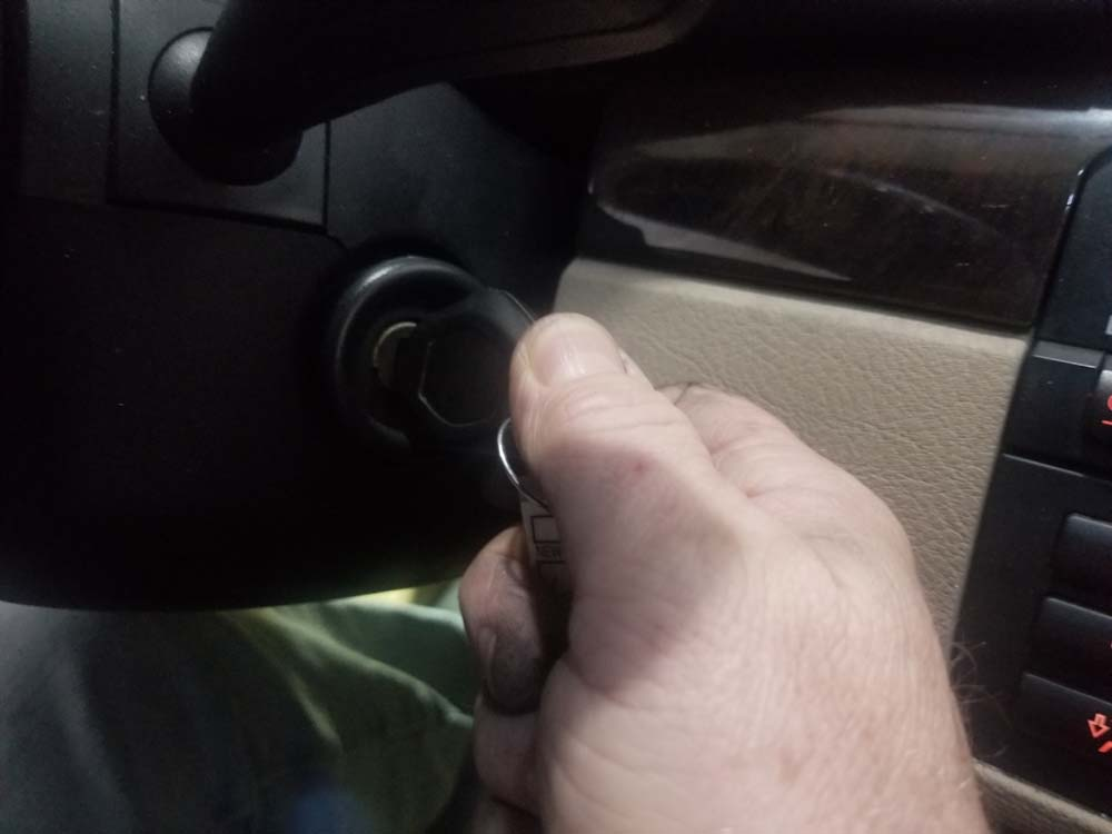 Turn ignition on but do not start car