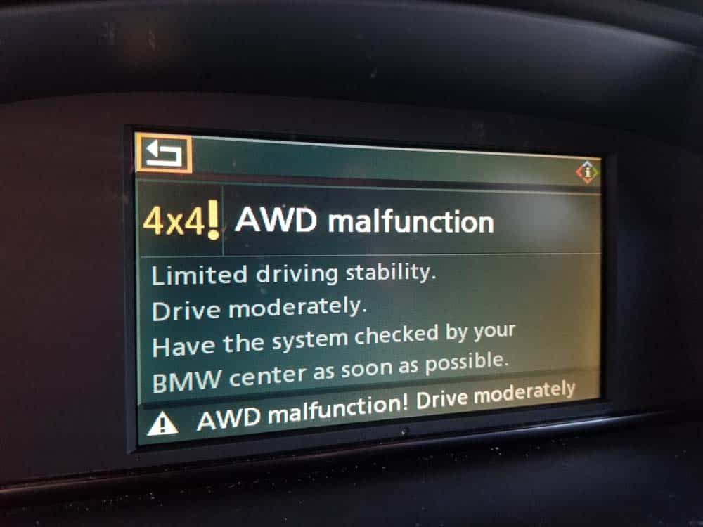 You should receive an error message on your iDrive when the fuse is removed