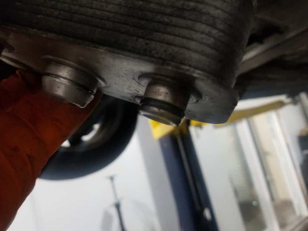 bmw e46 radiator - Inspect the o-rings on the transmission cooler.