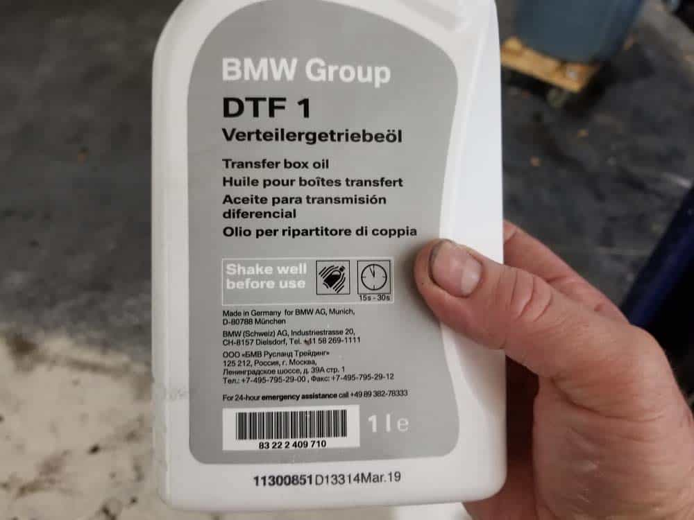 Only use BMW DTF1 transfer box oil in your E60 transfer case.